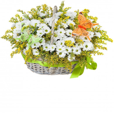 Корзина цветов «Лето»